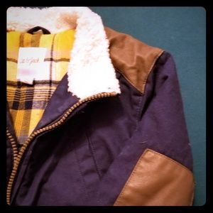 4T flannel-lined coat